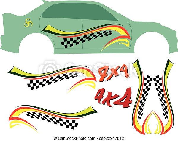 Vehicle Graphics, Stripe : Vinyl Ready - csp22947812