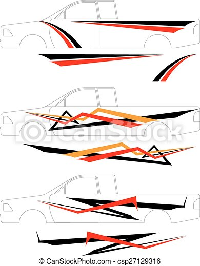 Vehicle Graphics, Stripe : Vinyl Ready - csp27129316