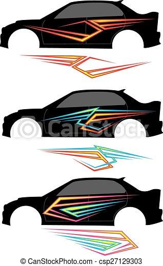 Vehicle Graphics, Stripe : Vinyl Ready - csp27129303