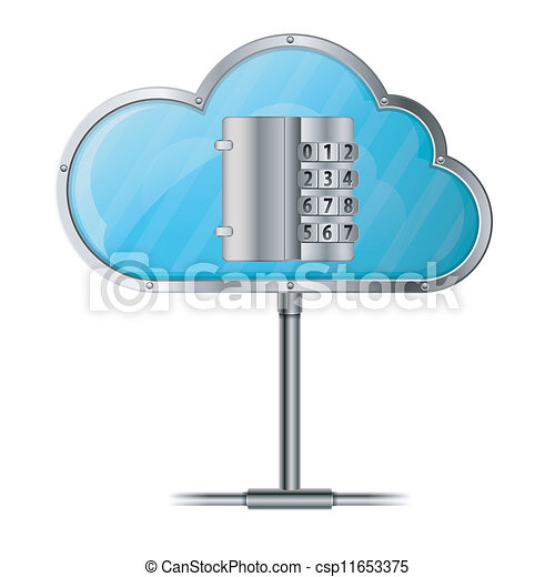 veiligheid, concept, wolk, gegevensverwerking - csp11653375
