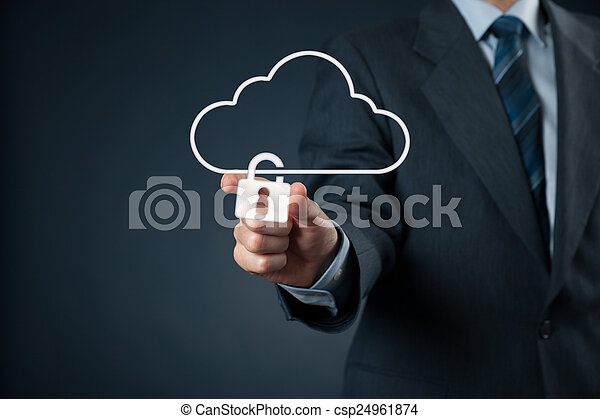 veiligheid, data, wolk - csp24961874