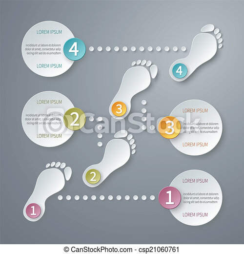 vektor, čtyři, infographic, štafle, template., 3 - csp21060761