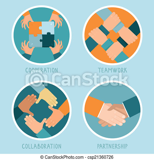 vektor, begreb, teamwork, samarbejde - csp21360726