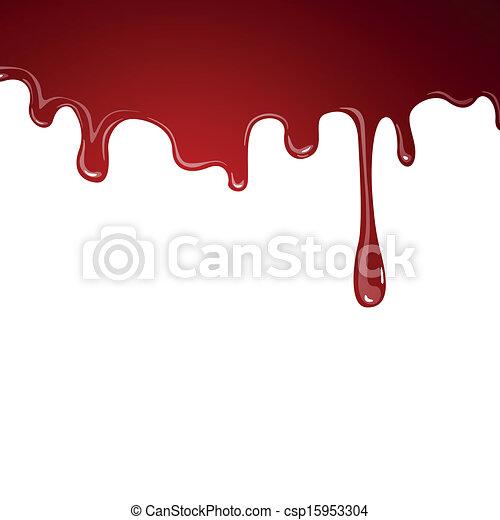 vektor, blod, flytande - csp15953304
