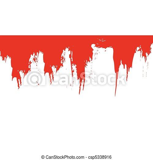 vektor, blod, splat - csp5338916