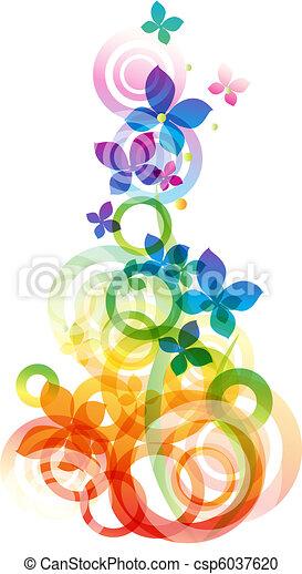 vektor, blomningen, bakgrund - csp6037620