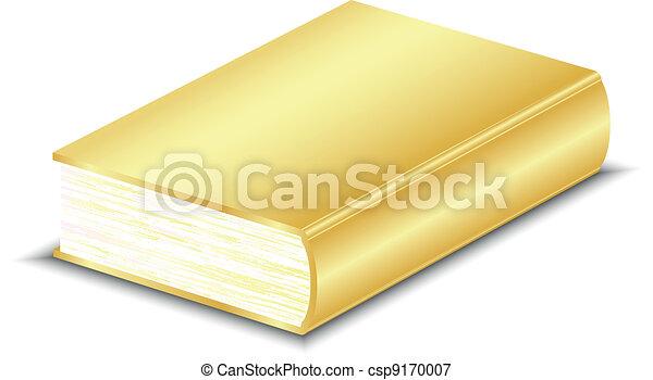 vektor, bok, illustration, guld - csp9170007