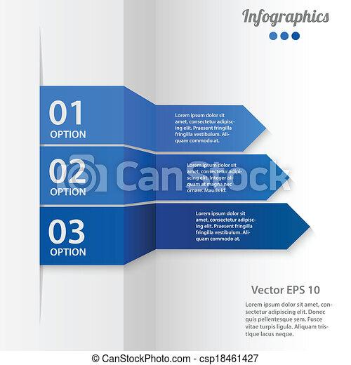 vektor, business osvětlení, infographics - csp18461427