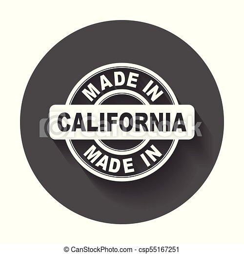 vektor, byt, udělal, symbol, california. - csp55167251