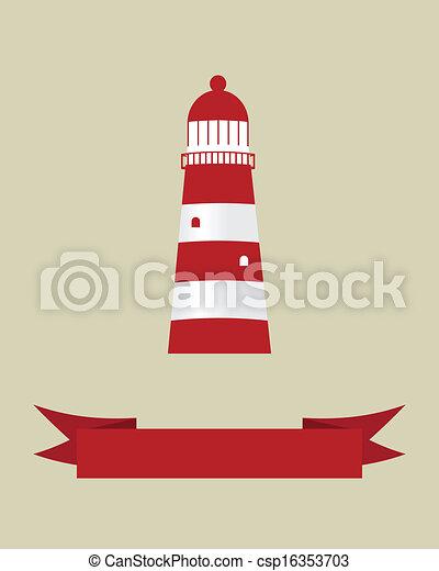 vektor, design, lighthouse., abbildung, dein - csp16353703