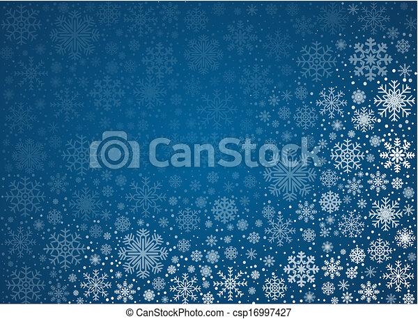 Vector Frosty Snowflakes Hintergrund - csp16997427