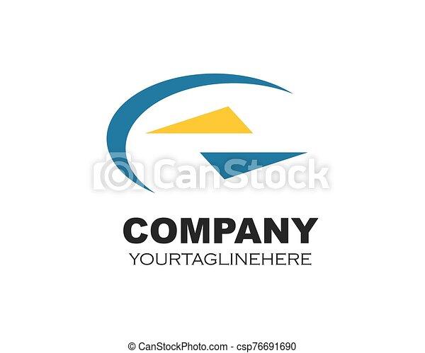 vektor, företag, ikon, abstrakt, logo, illustration - csp76691690