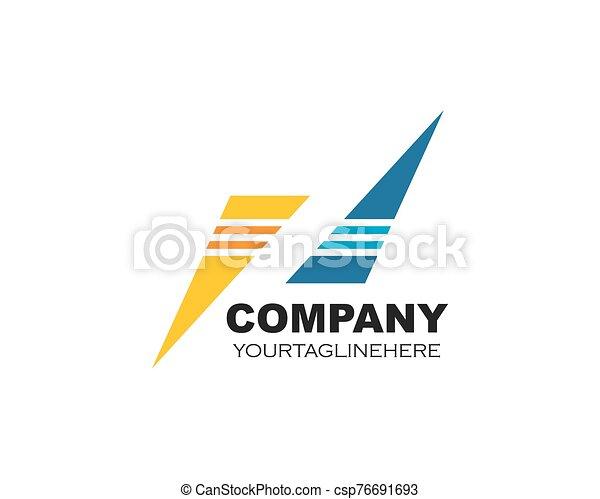 vektor, företag, ikon, abstrakt, logo, illustration - csp76691693