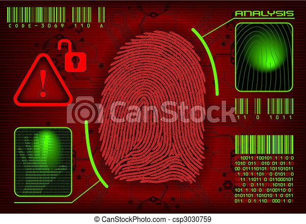 vektor, fingeraftryk - csp3030759