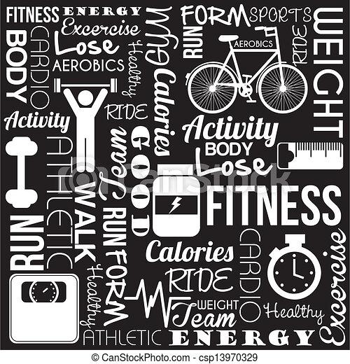 Fitness-Vektor - csp13970329
