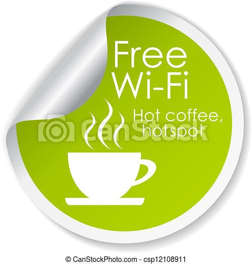 Kostenloses Wi-Fi-Vektor-Label - csp12108911