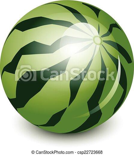 vektor, görögdinnye, ábra - csp22723668