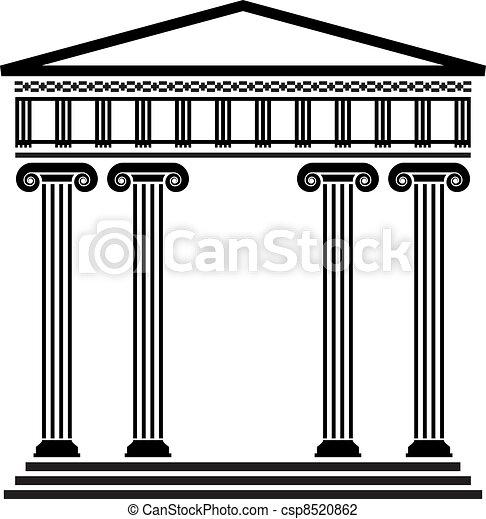 vektor, griechischer , uralt, architektur - csp8520862