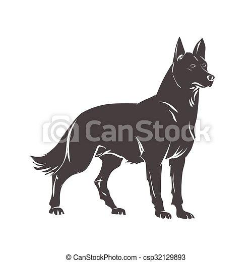 vektor, hund, bild - csp32129893