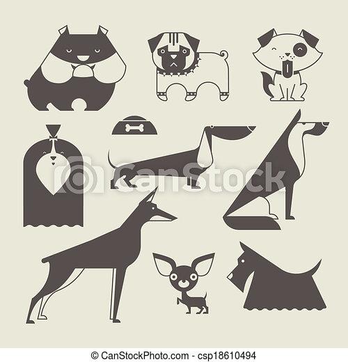 vektor, hund - csp18610494