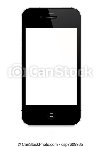 vektor, -, iphone, 4s - csp7609985