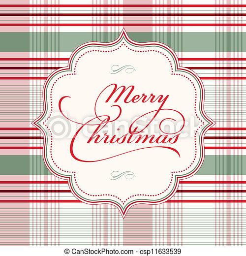 vektor, jul, bakgrund, pläd - csp11633539