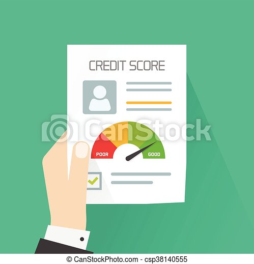 Vektor, kredit, persönlich, hand, begriff, partitur, besitz ...