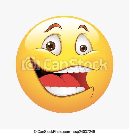 Vektor Lachender Smiley Lustiges Smiley Abbildung Gesicht