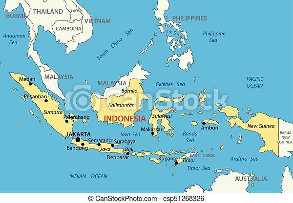 Vektor Landkarte Indonesien Republik