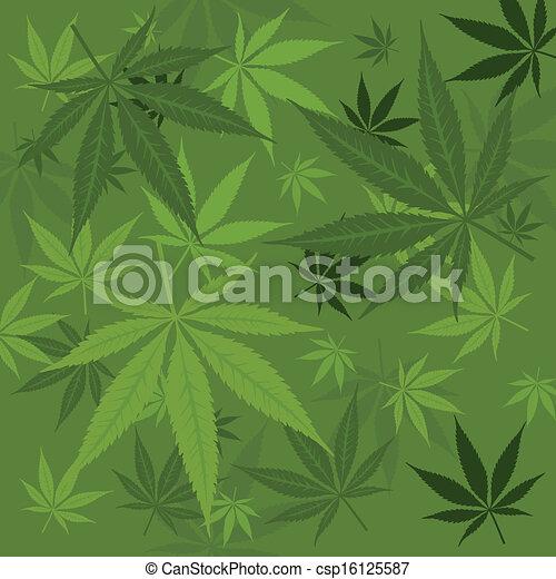 vektor, marihuana, hintergrund - csp16125587