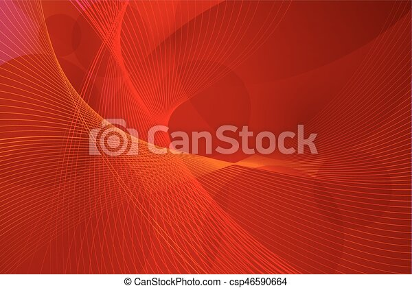 vektor, megvonalaz, piros háttér, lenget - csp46590664