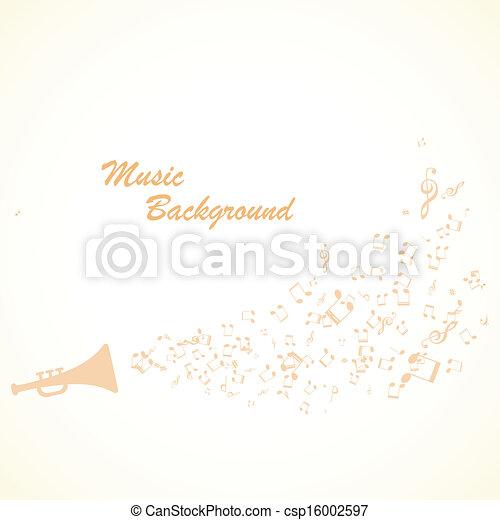 vektor, musik, hintergrund - csp16002597
