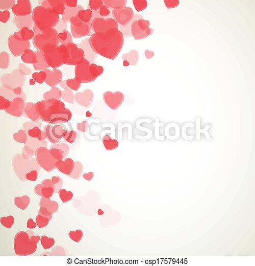 vektor, nap, kártya, valentines - csp17579445