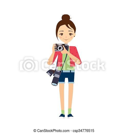Fotograf. Vector Illustration. - csp34776515