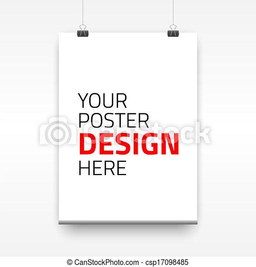 vektor, poszter, dolgozat, ív, sablon - csp17098485