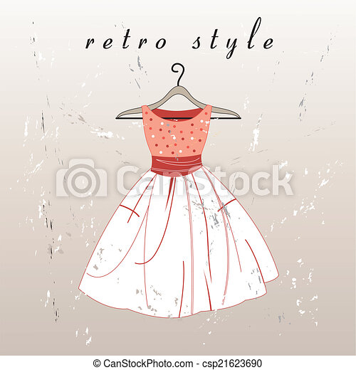 vektor retro dress - csp21623690