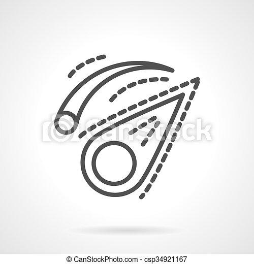 vektor, schwarz, komet, design, linie, ikone