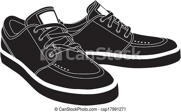 vektor, sport cipő - csp17991271