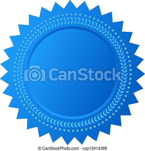 Vector Star Seal - csp13414388