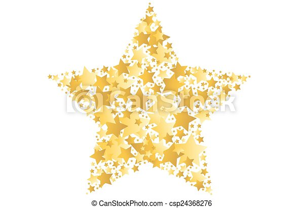vektor, stjärna, guld, illustration - csp24368276