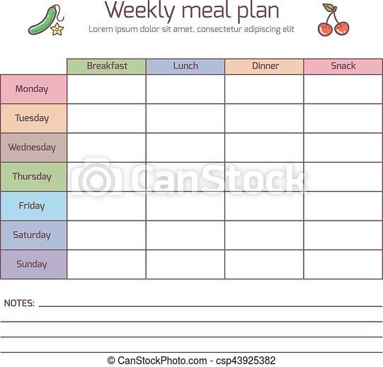 Atemberaubend Mahlzeit Planungsvorlage Excel Ideen ...