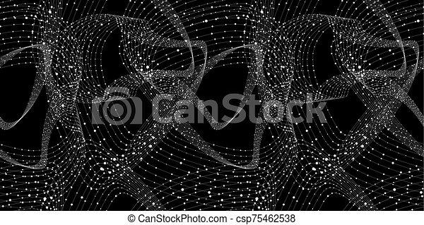 vektor, technology., wireframe, abstarct, bakgrund, begrepp, mönster, seamless, anslutningar, nätverk - csp75462538