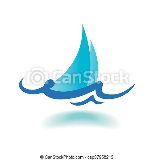 vektor, tenger, lenget - csp37958213