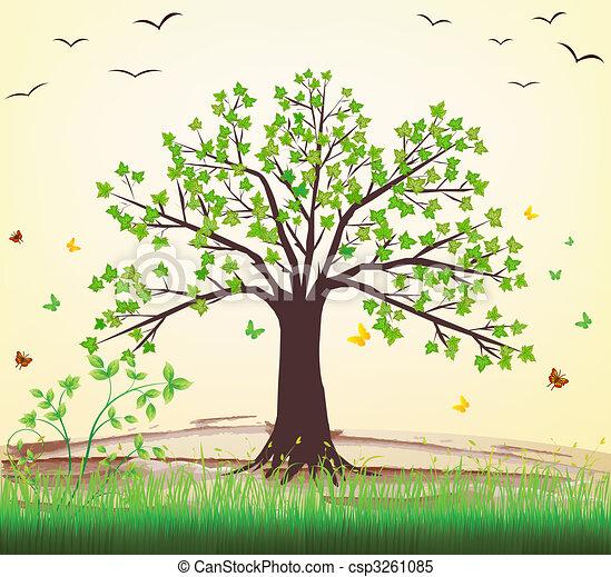 vektor, träd - csp3261085