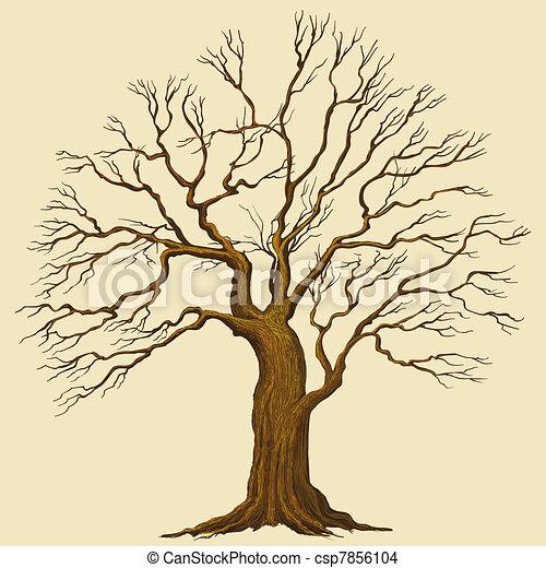 vektor, träd - csp7856104