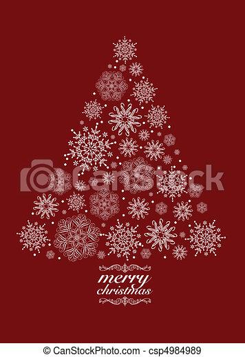 vektor, träd, jul - csp4984989