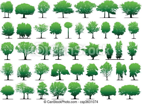 vektor, træer - csp3631074