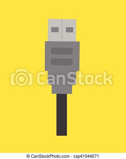 vektor, usb kabel - csp41044071