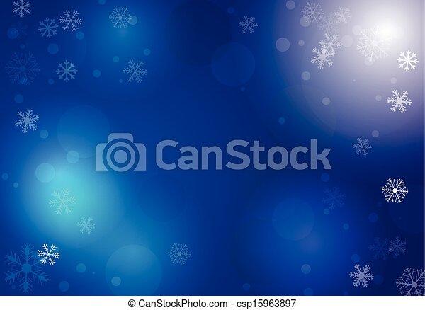 vektor, winter, hintergrund - csp15963897