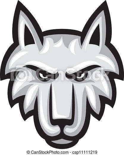 vektor, wolf, abbildung, gesicht - csp11111219